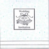 Blue Patterend Wedding Invitation Pk6